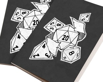 D&D/RPG Dice Notebook/Journal - 48 lined pages