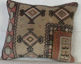 Turkish Carpet Pillow, 20x18 Pillow Case