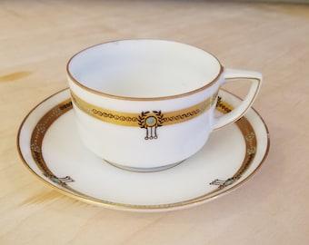 Rare 19th Century M.C. KY3HEUOBA Demitasse Cup & Saucer