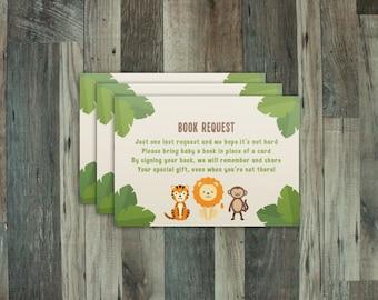 SALE 30% off: Book Request - Zoo Animal/Safari Theme - Print at Home
