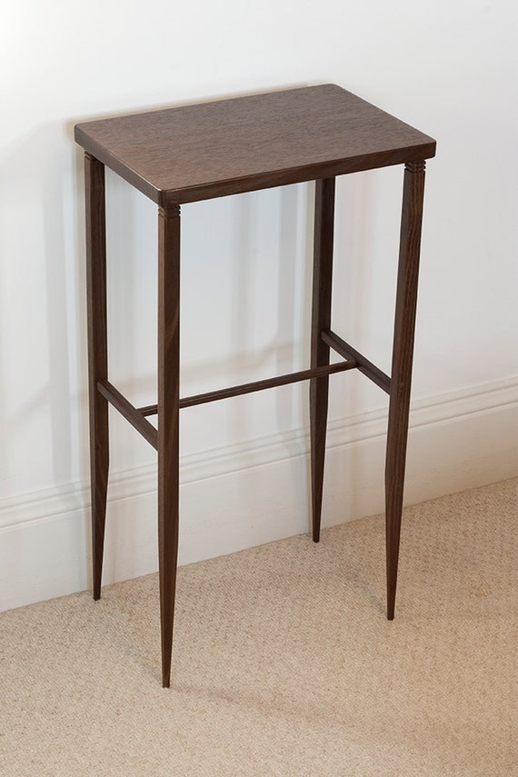 Nook Pair of small side / utility tables in dark English Sweet Chestnut