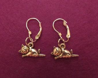 Sleeping Kitten earrings - Peaceful Kittens- Cute Kittens- Lever back earrings