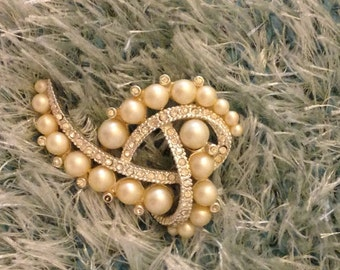 Vintage beaded brooch