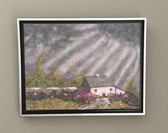 After the rain. Original painting
