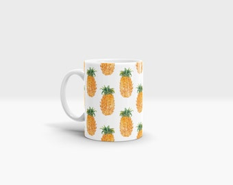 Pineapples Mug. 11oz Ceramic Mug.