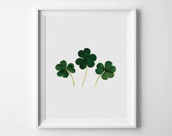 Irish Leaf print, green print, leaves art, clover print, leaves decoration, wall decor, leaf art, botanical print, leaf prints, Cloverposter