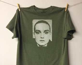 Nothing Compares 2U - Large Army Green Heather T Shirt - Screen Print