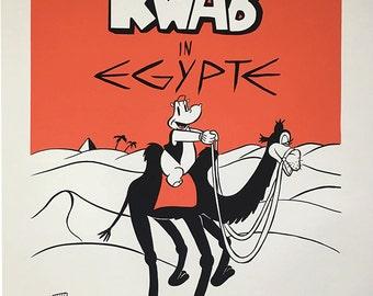 Kwab in Egypte - movie poster silk screen print