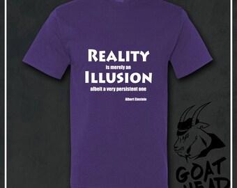 Physics Gift, Illusion, Philosophy, Einstein, Albert Einstein, Socrates, Plato, Philosophy Shirt, Gift for Teacher, T-shirt, Shirt, Tee