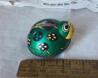 1940's Tin Litho Green Ladybug Toy