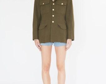 Vintage 80s Military Jacket