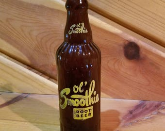Vintage Ol' Smoothie Root Beer Soda Bottle