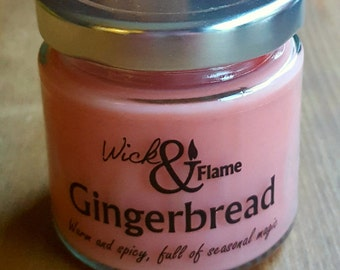 Gingerbread scented container candle