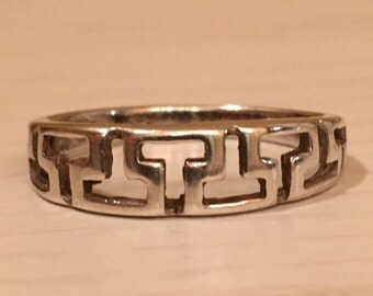 Sterling Silver Band/Ring - size 7.25