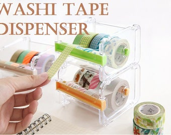 1pc Washi Tape Dispenser Storage Case / Masking Tape Organizer / Tape Holder / Tape Cutter / Tape Dispenser