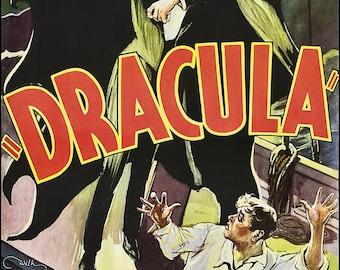 Dracula - Bela Lugosi - Vampire - Wall Art - Movie Print - Movie Poster - Movie Art - Movie Lover - Universal  11x17 (JS00539)
