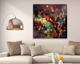 Colorful Abstract Art Print, Giclee Print of Original Abstract Minimalist Oil Painting, Abstract Modern Wall Art, Abstract Prints Wall Decor
