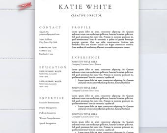 minimalist resume template cv template for word two pages resume professional resume - Minimalist Resume Template