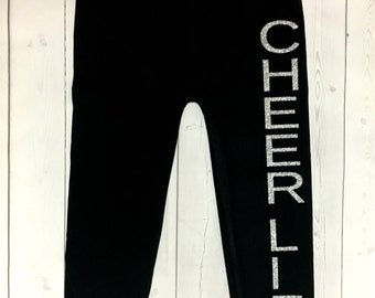 Cheer Life leggings - girls leggings - tween leggings - teen leggings - cheer life - cheer
