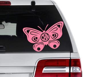 Butterfly Monogram Decal - Butterfly Decal - Butterfly Custom Decal - Butterfly Laptop Decal - Butterfly Tumbler Decal - Gardening Decal
