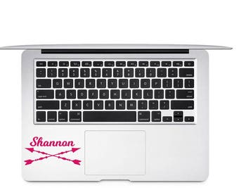 Arrow Name Decal - Personalized Arrow Decal - Custom Name Arrow Decal - Arrow Name Monogram - Arrow Laptop Decal - Name Decal - Arrow Decal