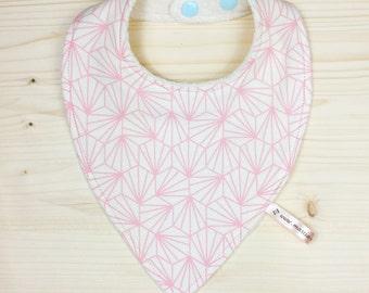 Geometric baby bandana pink 0-12 months