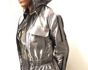 Sale 15% Off  Metallic Trench Coat.