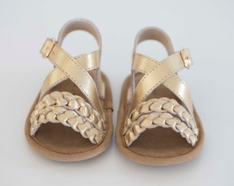 mimi sandal - gold (soft sole baby shoes)