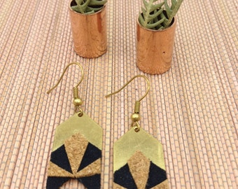 Arrow-liege-doeskin-jewelry earrings geometric NOVA