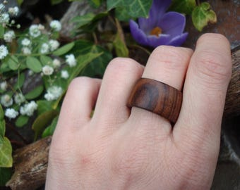 Rosewood Ring (6 1/2) Earth Jewelry/Handcrafted Ring/Natural Wood/Simple Ring/Heart Chakra/Organic Jewelry/Indian Rosewood/FromHerTrees/Gaia