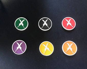 Malifaux Resurrectionists Scheme Markers (x6) 30mm Feathers