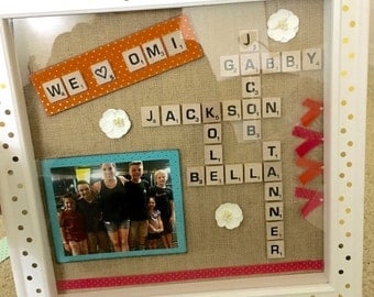 Scrabble Letter Shadow Box