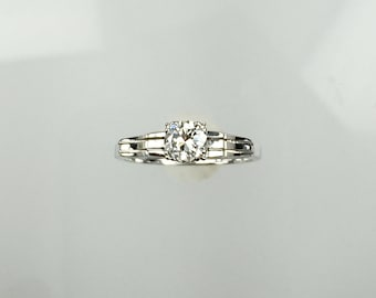 Vintage 1960's diamond solitaire engagement ring .50ct