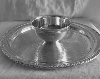 Oneida USA OL Silver Plate Dip Plate