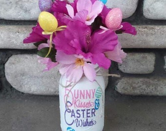 Easter Mason Jar, Easter Decor, Easter Centerpieces, Party Decor, Holiday Decor, Easter gift, gift, Easter Bunny, Easter eggs,