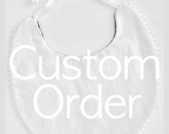 Custom Reversible Baby Bib