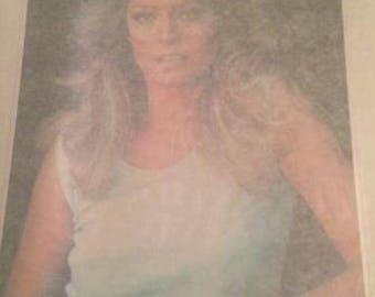 Farrah Fossett Vintage Transfer