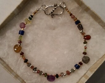 Semi Precious Gemstone Beaded Bracelet -L