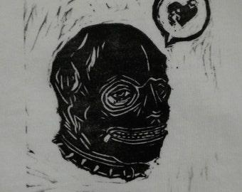 Hand-printed Gimp Mask Tee