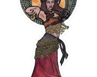 Nouveau Belly Dancer Sticker