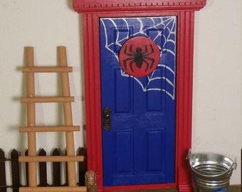 Boys Spiderman Tooth Fairy Door. Superhero Door!