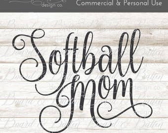 Softball Mom SVG - Softball SVG File - softball svg softball commercial use clipart - svg clipart - sports svg vector graphics htv cut file