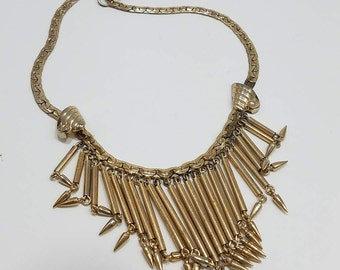Gorgeous Statement Gold Tone Necklace - Kafin New York?