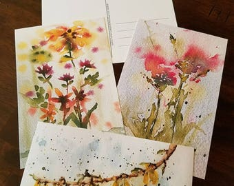 Mother's Day Spring Flower Postcards