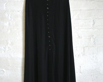 Midi Stretch Button Skirt