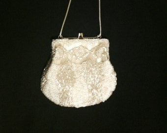 1950s Silver LaRegale Beaded Purse