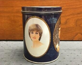1981 Lady Diana and Prince Charles Wedding Tin