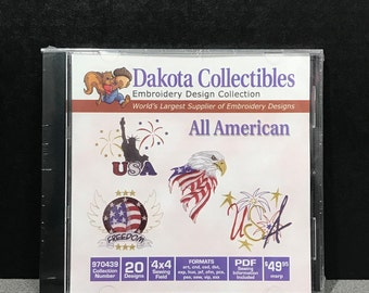 Dakota Collectibles All American Embroidery CD