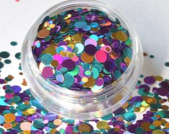 100 g/93,33 euro - mix bag glitter sequins points dot glitter new craft