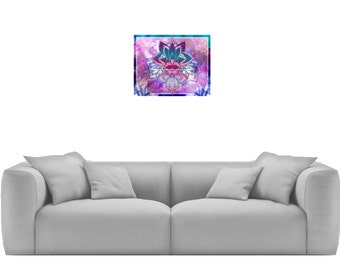 Cosmic Blossom - Print, Poster, Canvas, Tapestry or Fleece Blanket